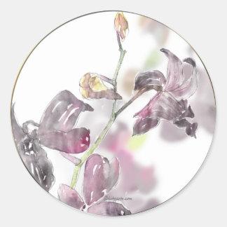 Orchideen-Hochzeits-Umschlag Aufkleber