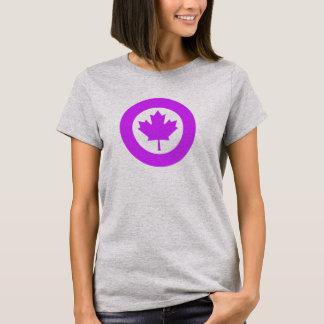 Orchideen-Kanadier Roundel T-Shirt