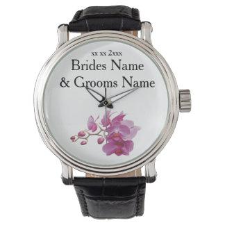 Orchideen-moderne einfache elegante armbanduhr