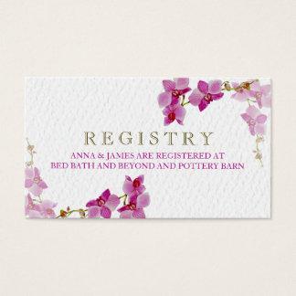 Orchideen-Paradies-Hochzeits-Register-Karte Visitenkarte