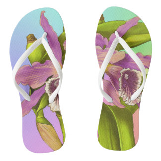 Orchideen-Pop Flip Flops