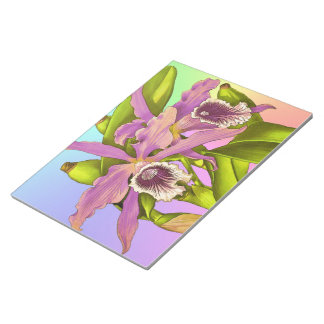 Orchideen-Pop Notizblock