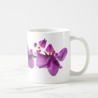 Orchideen-Reihe auf Weiß 11-Unze-klassische weiße Kaffeetasse
