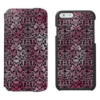 Orchideen-rosa Blumendamast gealtertes Incipio Watson™ iPhone 6 Geldbörsen Hülle