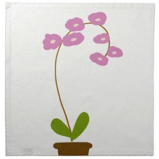Orchideen Serviette