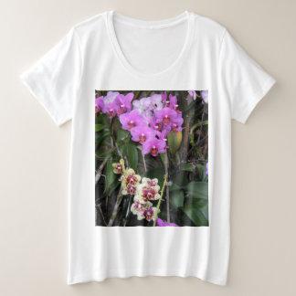 ORCHIDEEN-SHIRT GROßE GRÖßE T-Shirt