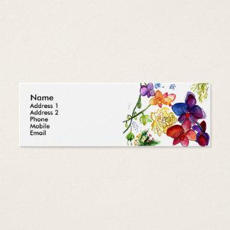 Orchideen-Spaß-Visitenkarteweiß Mini Visitenkarte