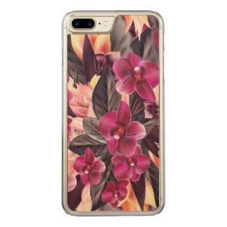 Orchideen. Tropischer Entwurf mit den schönen Carved iPhone 8 Plus/7 Plus Hülle