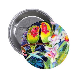 Orchideen-tropisches Druck-Knopf-Button der Lovebi Runder Button 5,7 Cm