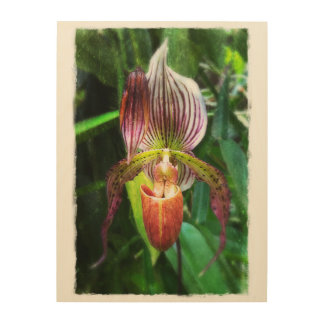 Orchideenwandkunst auf Holz Holzleinwand