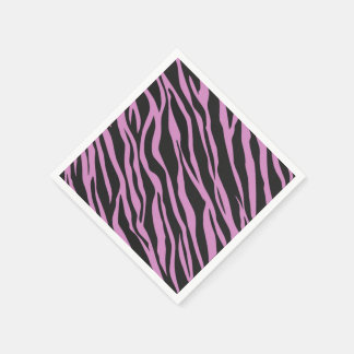 Orchideerosa Zebra Striped Papierserviette