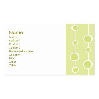 Ordentliches Muster Visitenkarten