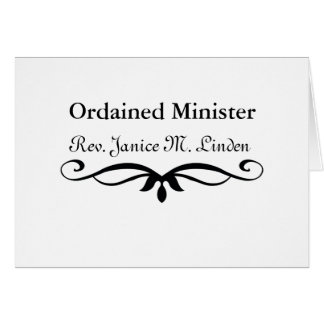 ORDINIERTER MINISTER GESCHENKE KARTE