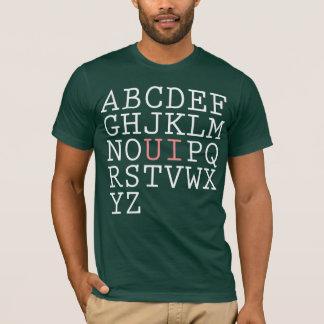 Ordnen Sie das Alphabet neu T-Shirt