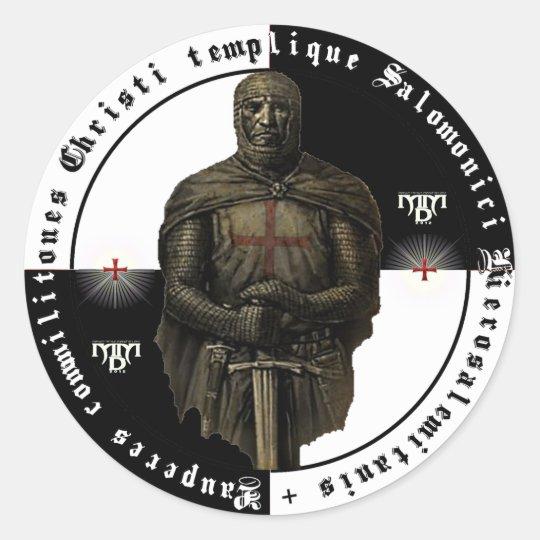 Ordo Templari Aufkleber mit einem Schwertritter