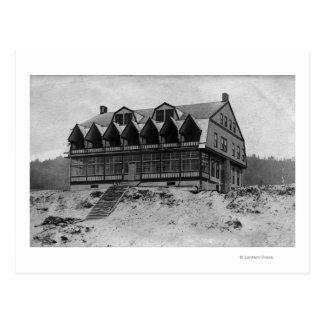 Oregon-Küsten-Ansicht des Aussicht-Gasthaus-Hotels Postkarte