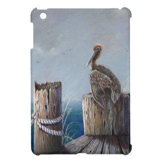 Oregon-Küsten-Brown-Pelikan-Acrylozean-Kunst iPad Mini Hülle