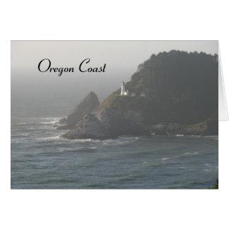 Oregon-Küsten-Leuchtturm Karte
