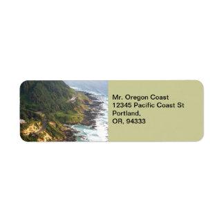 Oregon-Küsten-Rücksendeadresse-Aufkleber Kleiner Adressaufkleber