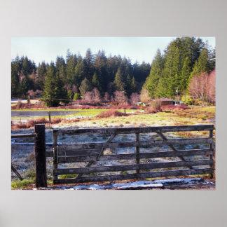 Oregon-Küsten-Schnee-Reihe 6 Poster