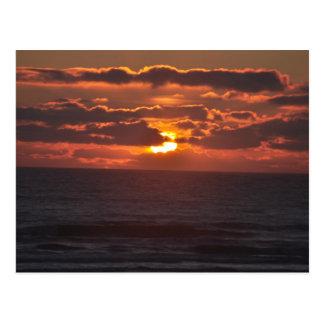 Oregon-Küsten-Sonnenuntergang Postkarte
