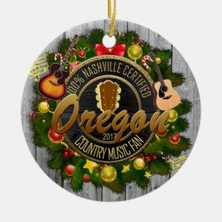 Oregon-Land-Musikfan-Weihnachtsverzierung Keramik Ornament