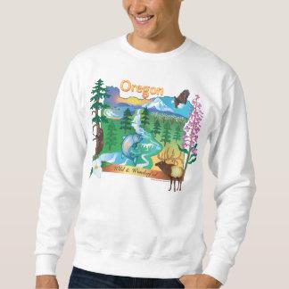 Oregon-Landschaft und Tier-Sweatshirt Sweatshirt