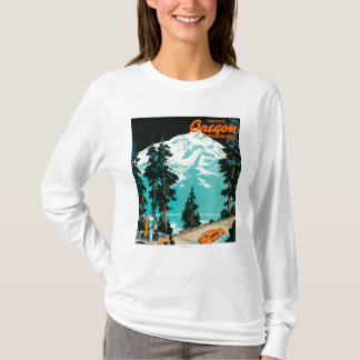 Oregon-Landstraßen, die Plakat annoncieren T-Shirt