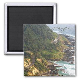 Oregon-Magnet mit Titel Quadratischer Magnet