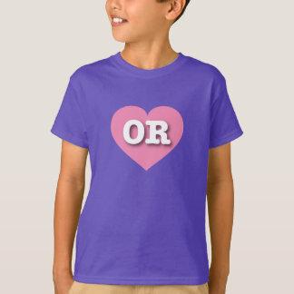 Oregon ODER rosa Herz T-Shirt