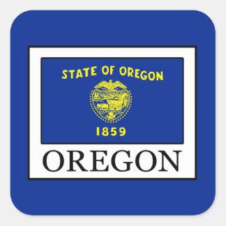 Oregon Quadratischer Aufkleber