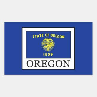 Oregon Rechteckiger Aufkleber