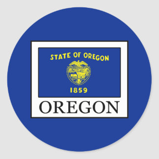 Oregon Runder Aufkleber