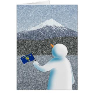 Oregon-Schneemann Karte