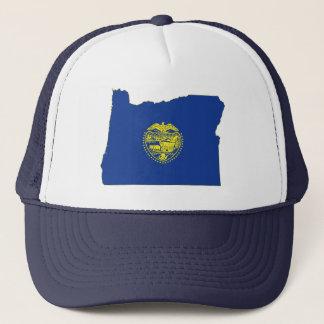 Oregon-Staats-Flagge und Karte Truckerkappe