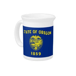 Oregon-Staats-Flaggen-Krug Getränke Pitcher
