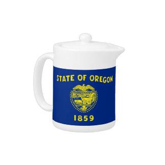 Oregon-Staats-Flaggen-Teekanne