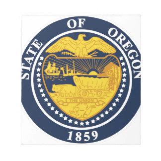 Oregon-Staats-Siegel Notizblock
