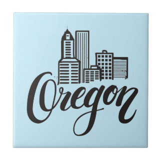 Oregon-Typografie-Entwurf Fliese