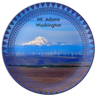 Oregon Windfarms und Mt. Adams, Washington Teller