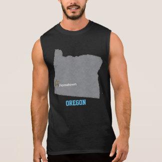 OREGON-Zuhause-Stadtpersonalisierte Karte Ärmelloses Shirt