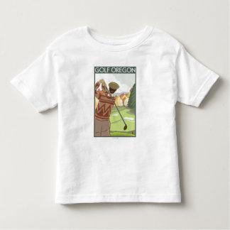 OregonGolf Szenen-Vintages Reise-Plakat Tshirts