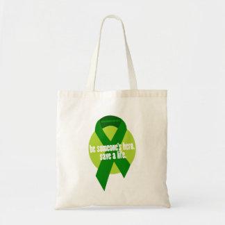 Organ-Spenden-Bewusstseins-Taschen-Tasche Budget Stoffbeutel