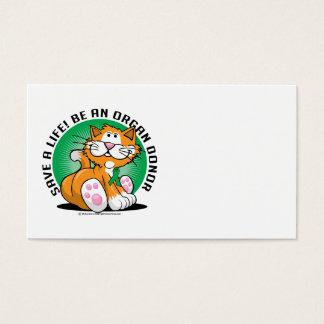 Organ-Spender-Katze Visitenkarte