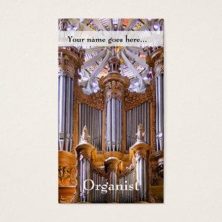 Organ- und Rosenfenster Visitenkarte