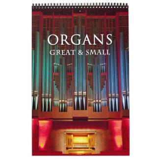 Organe groß und kleine Kalendervertikale Kalender