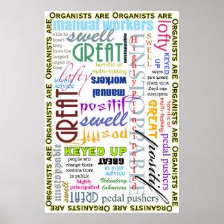 Organisten sind alles! Plakat