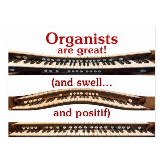 Organisten sind große Postkarte
