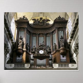 Organplakat St. Sulpice Poster