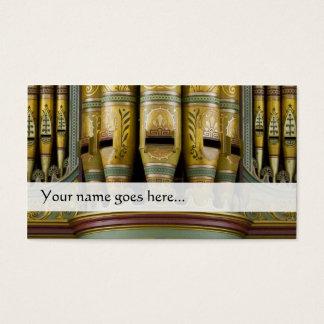 Orgelpfeife-Visitenkarte - verzierte Rohre Visitenkarte